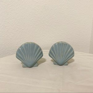 Vintage shell salt and pepper shakers
